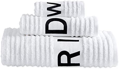 Amazon Com Dkny Chatter Bath Towels Set Of 3 White Home Kitchen