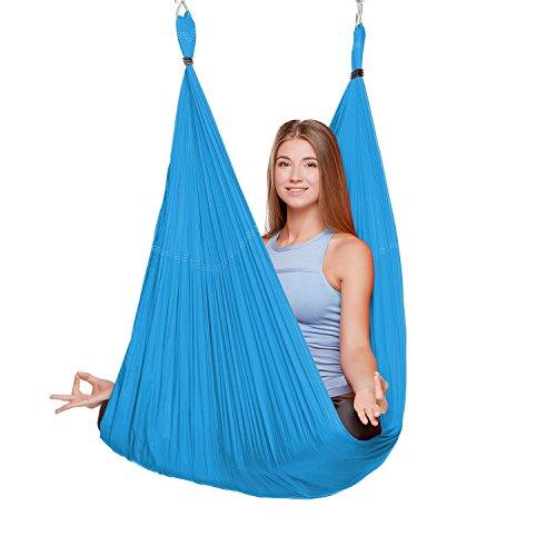 shengxia womens elastic aerial hammock yoga swing sling inversion antigravity sky blue 5m x 2 8m shengxia womens elastic aerial hammock yoga swing sling inversion      rh   lifestyleupdated