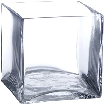 Amazon Cys Excel Cube Vase Crystal Clear Glass Vase Vase For