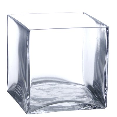 Amazon Candles4less Bulk 6 Pieces 6 Inch Clear Glass Square