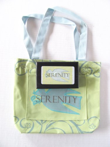 Gifts by Lulee, LLC Gusseted Tote or Grocery Bag and Black Corded Necklace with Serenity Prayer Pendant