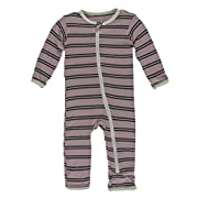Kickee Pants Little Boys Solid Coverall with Zipper - Succulent with Aloe, 6-9 Months