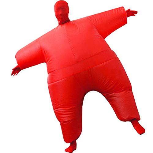 HUAYUARTS Inflatable Full Body Suit Costume Adult Funny Cosplay Cloth Party Toy Gift for Halloween Christmas, Free Size, Red -