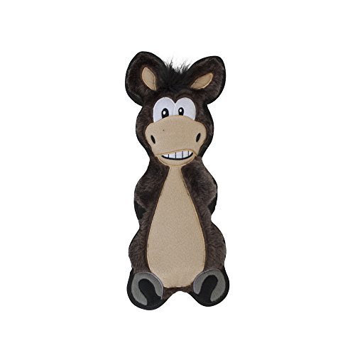 Floppyz Squeaks When You Shake Squeaky Plush Toy for Dogs by Outward Hound, Medium, Donkey