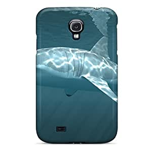 High Impact Dirt/shock Proof Case Cover For Galaxy S4 (white Shark)