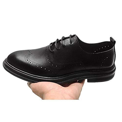 da Casual Traspiranti Brogue Pelle 486 Scarpe in UK Casual Business in Mesh Scarpe in Black 8 Uomo Pelle 7 WqISffBO