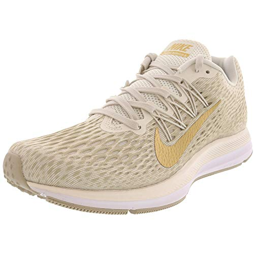 Nike Women's Zoom Winflo 5 Phantom/Metallic Gold/String Running Shoe 6 Women US (Nike Air Zoom Total 90 Iii For Sale)