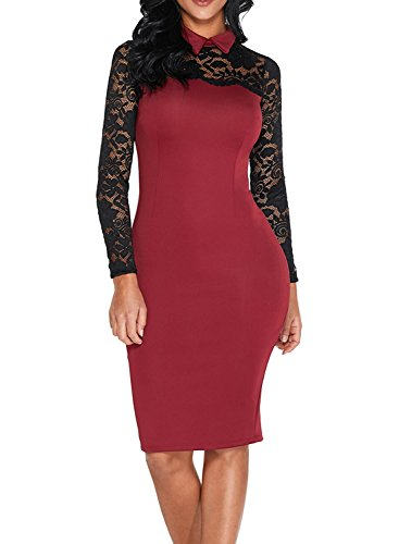 lace detailed bodycon dress - 4