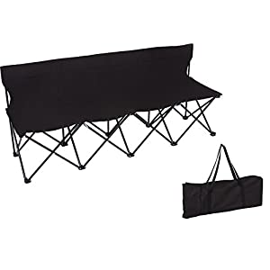 Trademark Innovations 4 Person Seater Folding Sports Sideline Bench