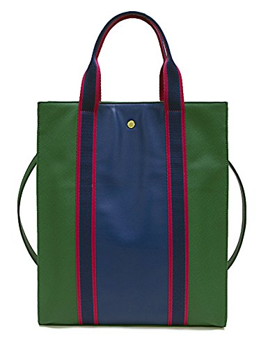 The Lovely Tote Co. Colorblocked Sport Strap Oversized Shopper Tote Bag