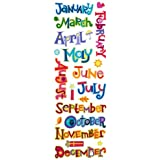 Momenta Puffy Title Sticker, Months of Year