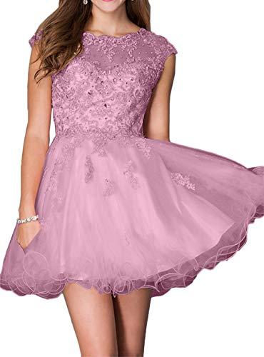 Rosa Steine Marie Braut Cocktailkleider Abendkleider Mini Tanzenkleider Dunkel mit Spitze Rosa La Heimkehr Kleider nOdYwFqq
