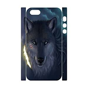 C-Y-F-CASE DIY Design Howling Wild Wolf Pattern Phone Case for iPhone 5,5S