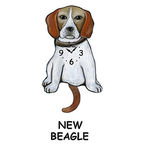 NEW Beagle wagging wall clock