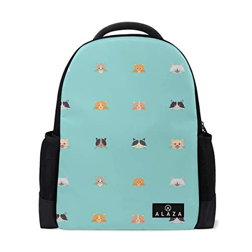 Science Diet Cat Food Backpack Lightweight School Backpack, Classic Basic Casual Backpack, Travel with Bottle Side Pocket -