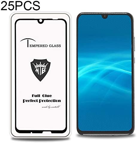 GUOHUN Screen Protector Protective 25 PCS 9H 3D Full Screen Tempered Glass Film for LG V30 Color : Transparent Transparent Glass Film