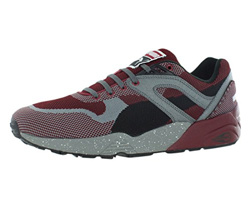 Puma Men's R698 Knit Mesh Splatter, Rio Red/Steel Gray, 10 M US