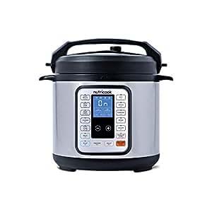 Nutricook Smart Pot by Nutribullet - 9 in 1 Electric Pressure Cooker, 6 Liters,  1000 Watts, Silver/Black