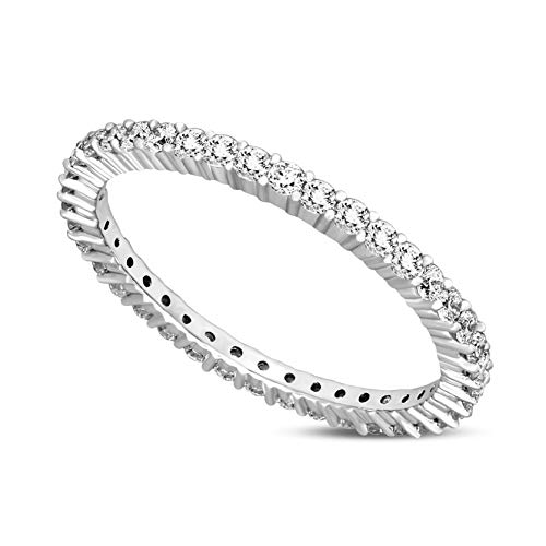- Luxury Eternity Band Diamond Ring 5/8 ct IGI Certified Lab Grown Diamond Engagement Rings For Women Lab Created Diamond Rings SI-GH Quality 10K Real Diamond Band Rings Diamond Jewelry Gifts For Women