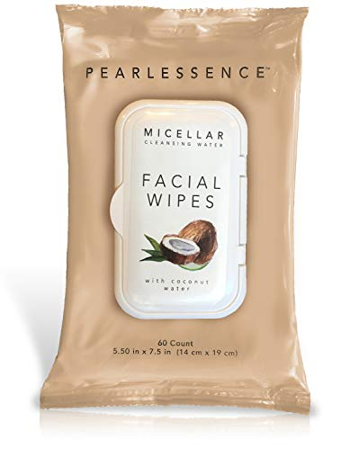 Micellar Cleansing Facial Makeup Remover Wipes w/ Coconut Water, 60 Count (1 Pack)