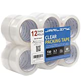 JARLINK Clear Packing Tape (12 Rolls), Heavy Duty Packaging Tape for Shipping Packaging Moving Sealing, 2.7mil Thick, 2 Inch Wide, 60 Yards Per Roll, 720 Total Yards: more info