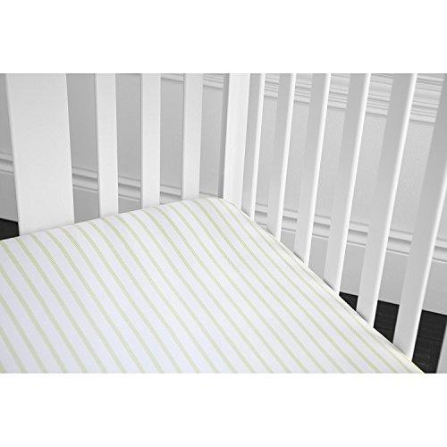 GUND Babygund Herringbone Deluxe 300 Thread Count Crib Sheet, Herringbone - Golly Grey, 28'' by 52''