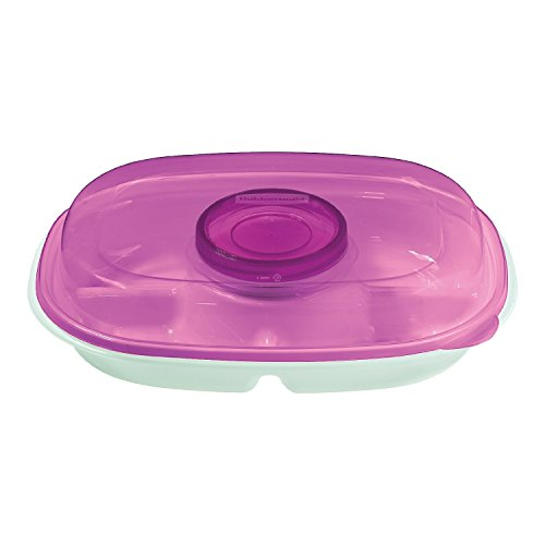 Rubbermaid Party Platter, 4-Piece Value Pack, Purple