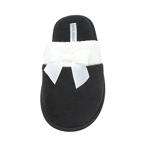 amp; Black See Terry Colors Scuff More Sizes Slipper Ladies Laura Bow Ashley PnxqEz7YwH