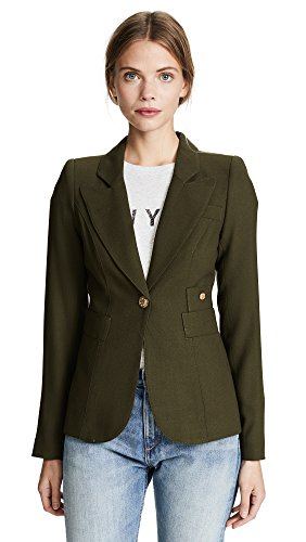 Smythe Wool Coat - SMYTHE Women's Duchess Blazer, Army, 8