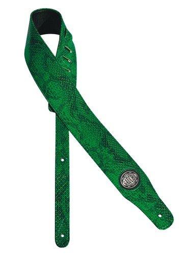 (Gaucho GST-205-GN Snakeskin Guitar Strap Green)