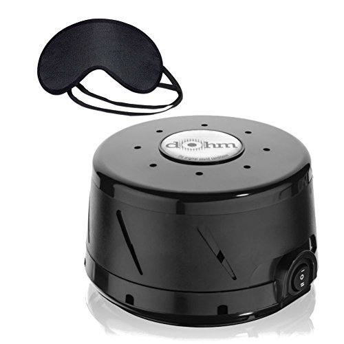Marpac Dohm DS Black & MaskCraft Airline Sleep Mask (Marpac Dohm Ds Dual Speed Sound Conditioner)