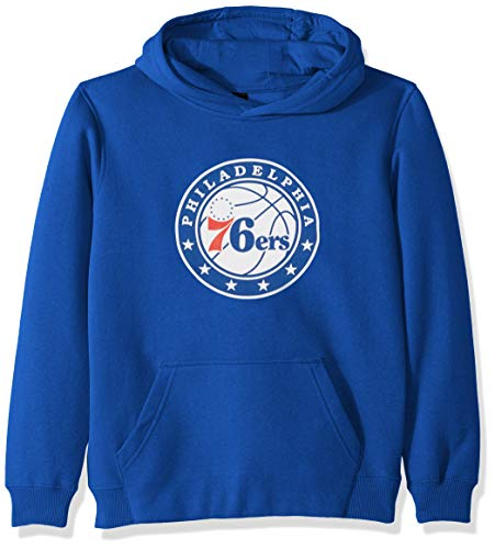 Outerstuff NBA NBA Youth Boys Philadelphia 76ers Primary Logo Classic Hoodie, Royal, Youth Large(14-16) ()