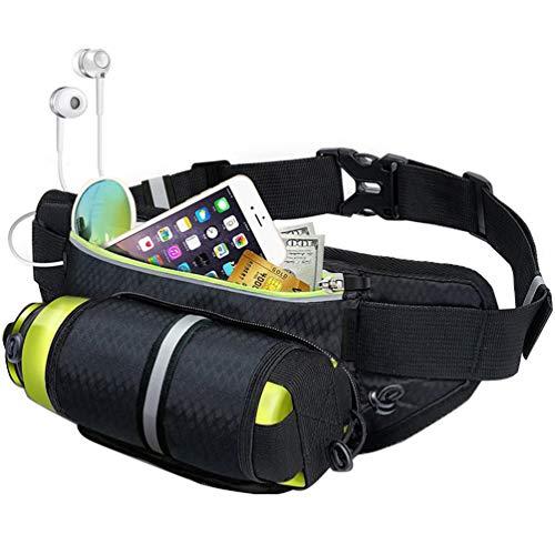 RUNACC Outdoor Waist Packs Durable Sports Fanny Pack Multi-Functional Waist Pouch Hidden Water Bottle Pocket, Black ()