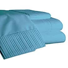 6 Piece Bamboo Sheet Set (LIGHT BLUE, QUEEN)