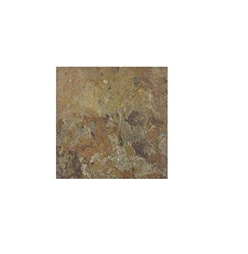 OKSLO Winton self-adhesive vinyl floor tile, earth slate, 12x12 in, 1.1 mm