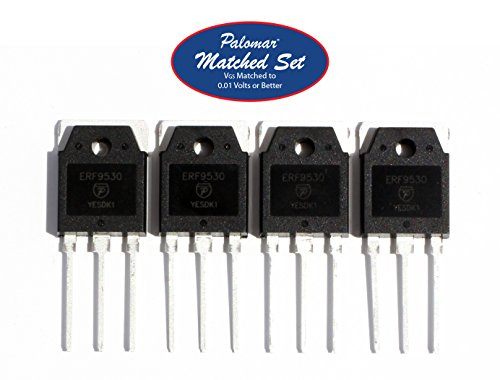 Photo Matched Four (4) ERF9530 100 Watt PEP RF Power Mosfet Transistor in TO-3PN Package
