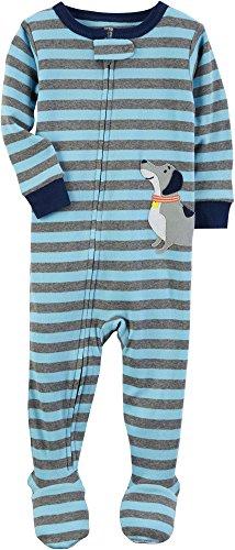 6 Months-5 Toddler Leveret Baby Boys Footed Pajamas Sleeper 100/% Cotton Kids /& Toddler Owl Pjs 12-18 Months, Skull