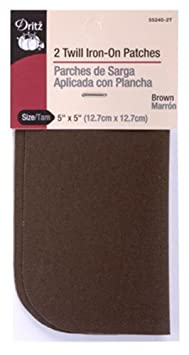 Dritz 55283 Patches Iron-On 16-Count Twill Assorted Sizes /& Colors