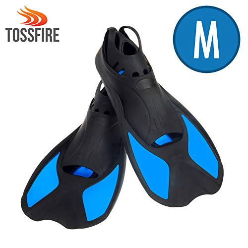 Flippers Fins Short Floating Training Swimming Fins Adults for size M Ankle Width 2.9