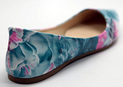 Walstar Womens Basic Point Toe Ballet Flats Flo11-blue OILxDpOY