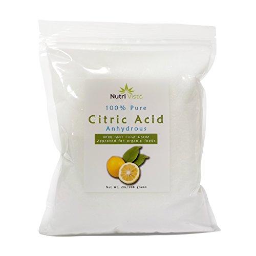 Nutri Vista Citric Acid 100% Pure- Food Grade Non GMO -2 lbs
