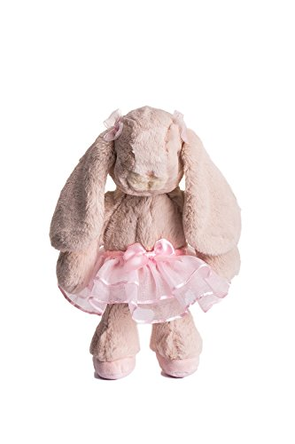 (Dilly dudu Ballerina/Ballet Bunny Plush Toy Stuffed Animal Rabbit Doll 10-inch(Pink))