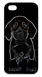 iphone 5s case,iphone 5 case,custom iphone 5 5s case,TPU Material,Drop Protection,Shock Absorbent,Customize your own cell phone case pattern,black case,The little black dog (black)