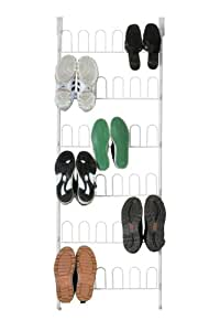 Moshells Home Collections Over the Door Shoe Rack in White