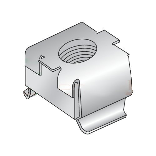 Panel Range .064-.105 C7941SS-1024-27 10-24 Cage Nuts//Stainless Steel Carton: 500 pcs
