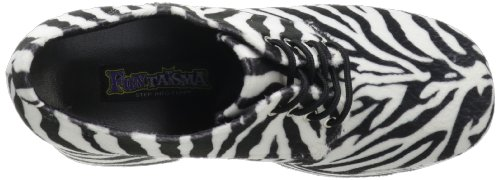 Funtasma De Pleaser Hombres Jazz-02 Plataforma Oxford Zebra Fur
