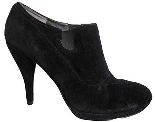 Nine West Noir Daim Véritable Plateforme Chaussures