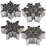 Lakeland Large Assorted Christmas Snowflake Icing & Cookie Cutter Set x 4
