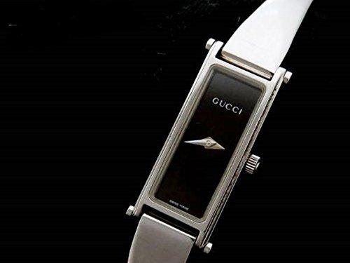 [グッチ]GUCCI レディース 腕時計 バングルウオッチ 1500L SS シルバー スクエアフェイス 黒文字盤 中古 [並行輸入品] B0755BX8T7