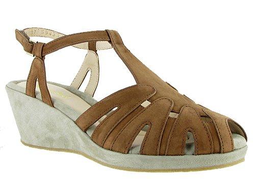BeautiFeel Women's Candy Wedge M Sandal B00GTM86ZE 39 EU/8-8.5 M Wedge US|Brown/Stone Suede 4ecb01